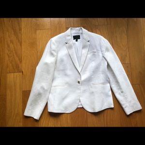 J.Crew White Linen Blazer 14